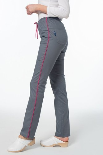 Scrubs pants Soft Stretch, grey + pink, SE4-S2
