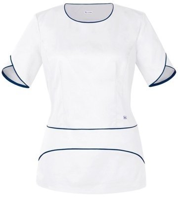 Scrubs top BW1-B, white