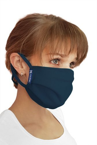 Streetwear protective mask, navy blue
